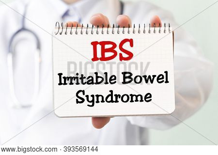 Doctor Writing Word Ibs Irritable Bowel Syndrome With Marker, Medical Concept