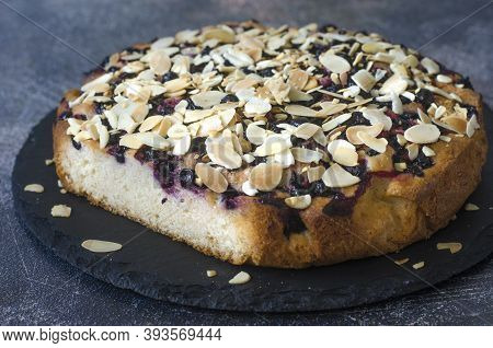Pie With Black Currant And Almond Petals