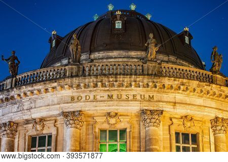 Berlin / Germany - February 13, 2017: Night View Of Bode Museum In Museumsinsel In Berlin, Germany
