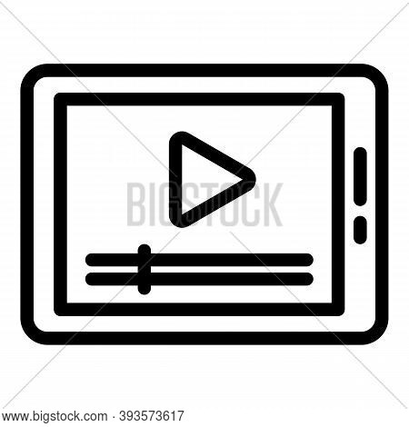 Tablet Course Icon. Outline Tablet Course Vector Icon For Web Design Isolated On White Background