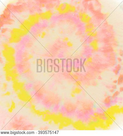 Circle Water Paint. Artistic Design. Color Roll. Watercolor Multi Patterns. Tye Die Swirl Kaleidosco
