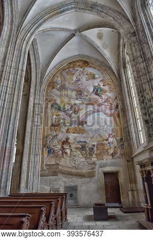 Czech Republic, Kutná Hora, 07,01,2016   Interior Of Cathedral Of St. Barbara, Kutna Hora, Czech Rep