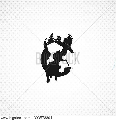 Global Warming Isolated Simple Solid Vector Icon On White Background