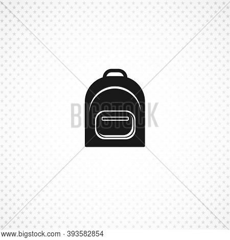 Rucksack. Knapsack. Schoolbag. Sack Vector Icon On White Background