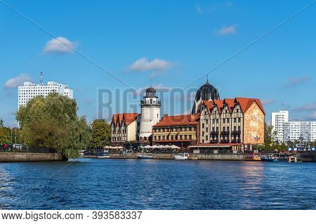 Kaliningrad, Russia - September 28, 2020: Panoramic View Of The Updated New Liberal Synagogue And Th