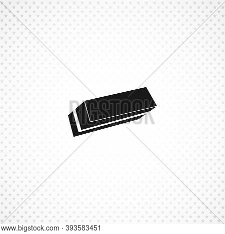 Eraser Isolated Simple Solid Vector Icon On White Background
