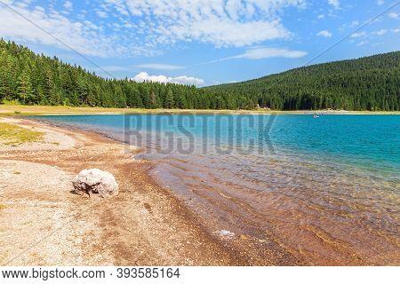 Black Lake Of The Durmitor Area In Montenegro