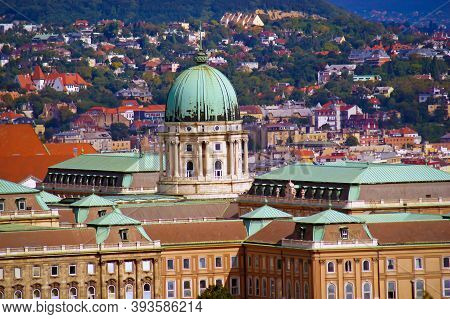 Buda Castle Is The Historical Castle And Palace Complex Of The Hungarian Kings In Budapest.
