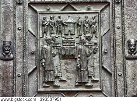 Detail Of The Cathedral Saint Vaclav In Prague