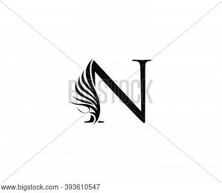 Classic N Luxury Logo Icon, Vintage N Letter Design.