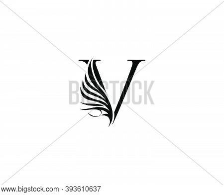 Classic V Luxury Logo Icon, Vintage V Letter Design.