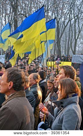 Kiev - Nov 24: 79Th Anniversary Of Holodomor Marks In Kiev, Ukraine On November 24, 2012