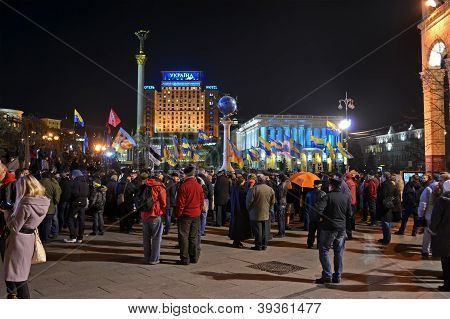 Kiev - Nov 22: Orange Revolution Celebration Anniversary In Kiev, Ukraine On November 12, 2012