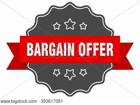 Bargain Offer Label. Bargain Offer Isolated Seal. Sticker. Sign
