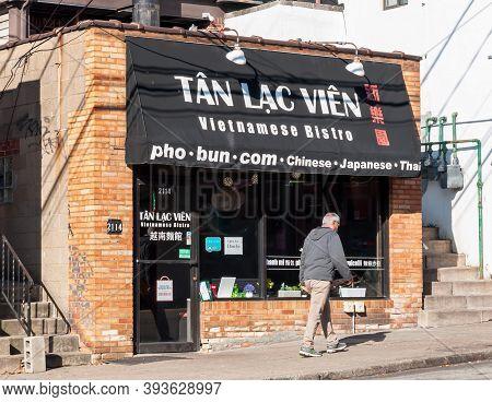 Pittsburgh, Pennsylvania, Usa 11/7/20 Tan Lac Vien Vietnamese Bistro, A Popular Vietnamese Cuisine R