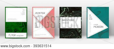 Abstract Cover. Symmetrical Design Template. Suminagashi Marble Stylish Poster. Symmetrical Trendy A