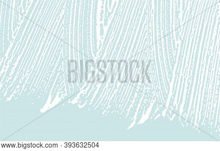 Grunge Texture. Distress Blue Rough Trace. Decent Background. Noise Dirty Grunge Texture. Actual Art