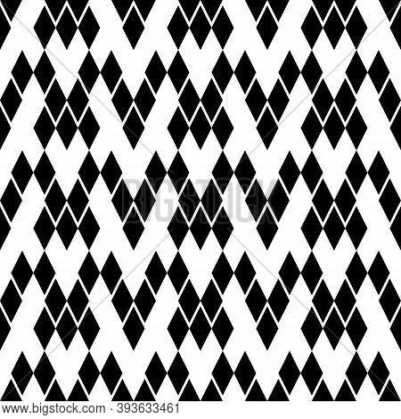 Seamless Pattern. Lozenges Wallpaper. Ethnic Motif. Rhombuses Ornament. Diamonds Backdrop. Geometric