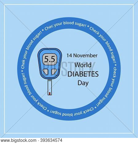 Concept World Diabetes Day Fight Poster. Creative Vector Illustration As Banner Or Poster Of Diabete