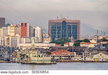 Rio De Janeiro, Brazil - December 22, 2008: Greenish Palace And Museum Building On Isla Fiscal In Fr