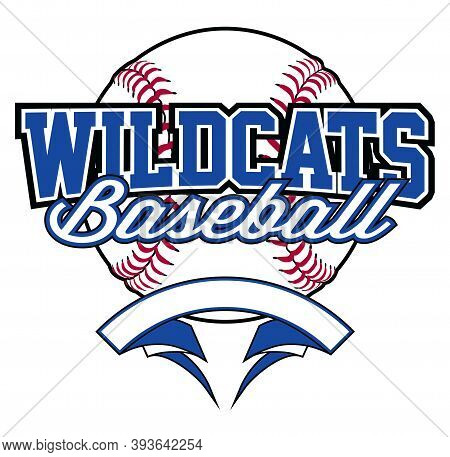 Wildcats Baseball Design With Banner And Ball Is A Team Design Template That Includes A Softball Gra