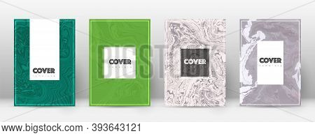 Abstract Cover. Incredible Design Template. Suminagashi Marble Hipster Poster. Incredible Trendy Abs
