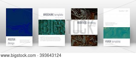 Abstract Cover. Charming Design Template. Suminagashi Marble Minimalistic Poster. Charming Trendy Ab