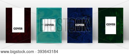 Abstract Cover. Marvelous Design Template. Suminagashi Marble Hipster Poster. Marvelous Trendy Abstr