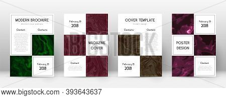 Abstract Cover. Fetching Design Template. Suminagashi Marble Business Poster. Fetching Trendy Abstra