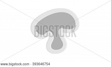 Champignon With Shadow Icon. Flat Illustration Of Champignon With Shadow Vector Icon For Web Design.