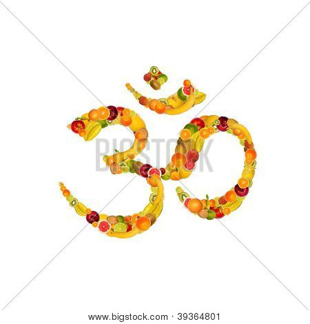 Symbol Aum From Fruits And Vegetables