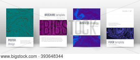 Abstract Cover. Fantastic Design Template. Suminagashi Marble Minimalistic Poster. Fantastic Trendy