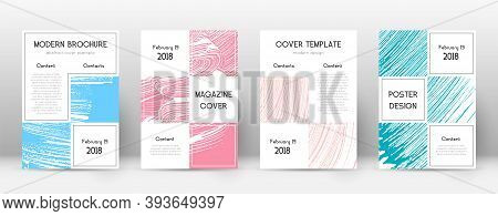Cover Page Design Template. Business Brochure Layout. Beautiful Trendy Abstract Cover Page. Pink And