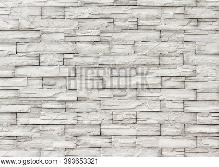 Modern Brick Stone Wall Marble Fence Texture Background