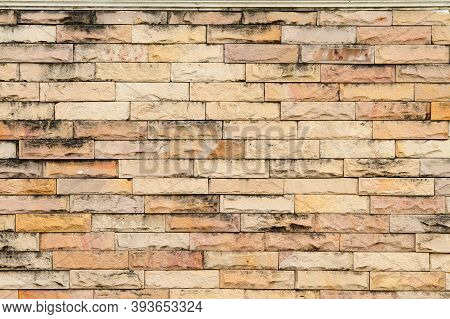 Old Brick Stone Wall Marble Fence Texture Background