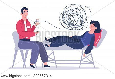 Psychotherapy Session. Woman With Psychologist, Psychological Therapy, Female Patient In Depression.