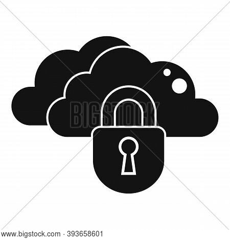 Secured Data Cloud Icon. Simple Illustration Of Secured Data Cloud Vector Icon For Web Design Isolat