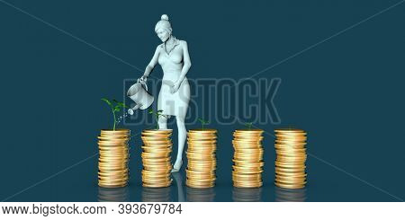 Wealth Management as an Investment Professional Service Concept 3d render