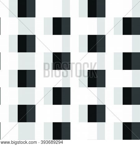 Black And White  Abstract Vector Texture, Background Pattern Created From Geometric Shapes Such As R
