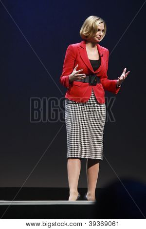 Madrid, Spain, Nov 13, 2012 - London-based Anchor For Bloomberg Television Linzie Janis Presents Sap