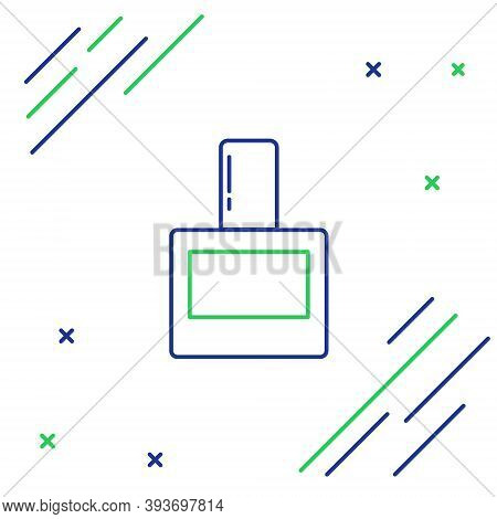 Line Aftershave Icon Isolated On White Background. Cologne Spray Icon. Male Perfume Bottle. Colorful