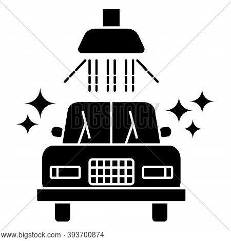 Carwash Icon. Sanitizing Station Or Service. Sanitation Of Vehicle. Cleaning And Washing Vehicle. Gl
