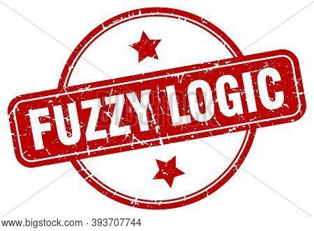 Fuzzy Logic Stamp. Fuzzy Logic Round Vintage Grunge Sign. Fuzzy Logic