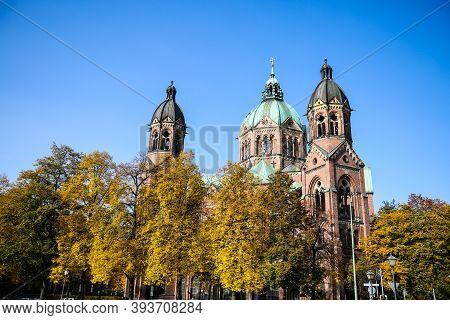 St. Lukas Church In Munich, Near Isar, Bavaria, Mariannen Church