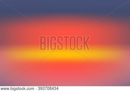 Abstract Background With Smooth Gradient Purple, Orange And Yellow Color Twilight Time. For Wallpape