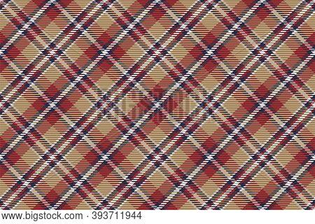 Plaid Pattern Seamless. Check Fabric Texture. Stripe Square Background. Vector Textile Design Tartan