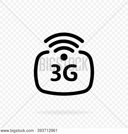 3g Icon. 3g Network Wireless Systems And Internet. Communication Network. 3rd Generation Network Log