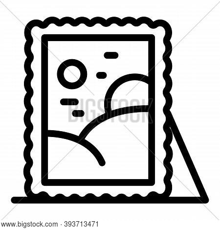 Auction Painting Icon. Outline Auction Painting Vector Icon For Web Design Isolated On White Backgro