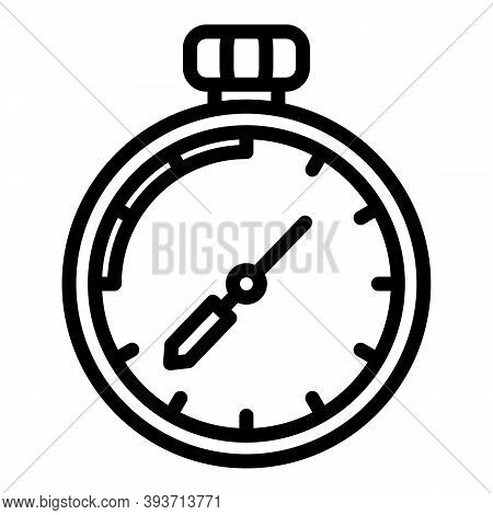 Auction Stopwatch Icon. Outline Auction Stopwatch Vector Icon For Web Design Isolated On White Backg