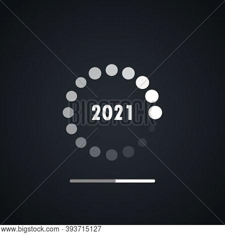 Happy New Year 2021 Loading Design Vector. Happy New 2021 Year With Loading Background Vector. Loadi